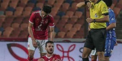 Mahmoud Metwalli , blessé  lors du match contre  Assouan  (3-0)