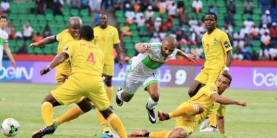 Algerie - Zimbabwe (2-2) comptant pour la phase de groupes du tournoi final de la  CAN 2017 disputée  au Gabon  (photo cafonline)
