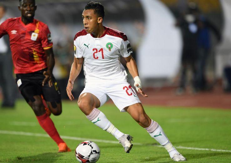 Soufiane Rahimi, buteur et très  influent  dans le match de la qualification