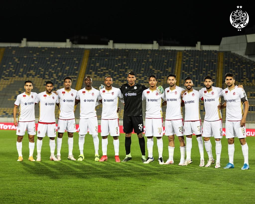 Wydad Casablanca : les  Rouge et Blanc caracolent en têtr de leur groupe (9 points) après leur leu succès face au Horoya AC (2-0). Photo page officiel Facebook du WAC)