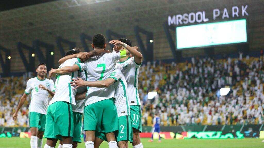 Arabie asoudite : les Faucons Verts meilleure chance de qualification arabe dans le groupe A dernier tour des éliminatoires du Mondial 2022 (photo afc.com)