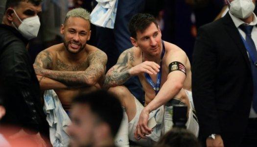Bon perdant, Neymar heureux pour Messi
