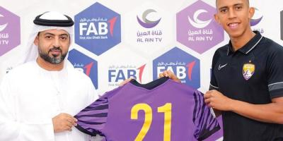 Al-Aïn :  Soufiane Rahimi est Mauve depuis jle 25 août ( phoro Al-AÎn Club facebook)